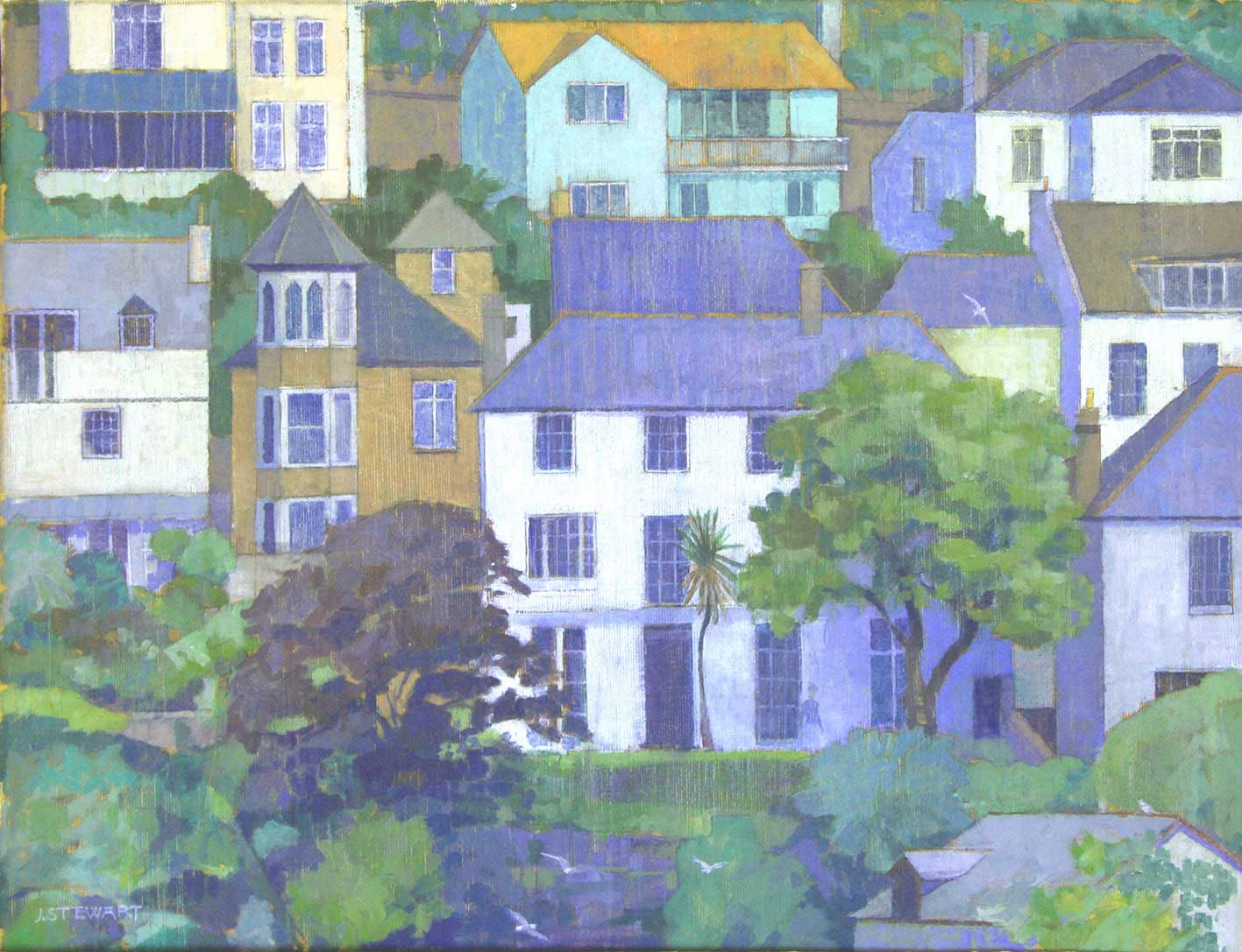 View From 25 Southford Road - 50cm x 60cm - Oil on board