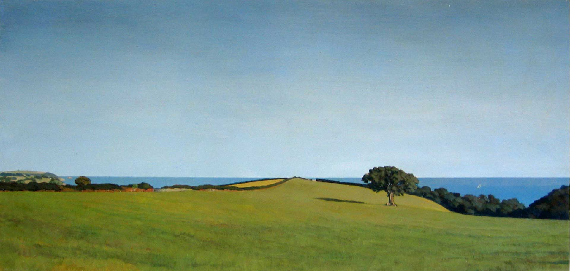 View From Strete - 60cm x 120cm - Oil on board
