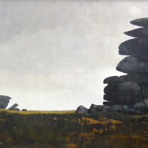 The Tors In The Rain - 120cm x 60cm - Oil on board